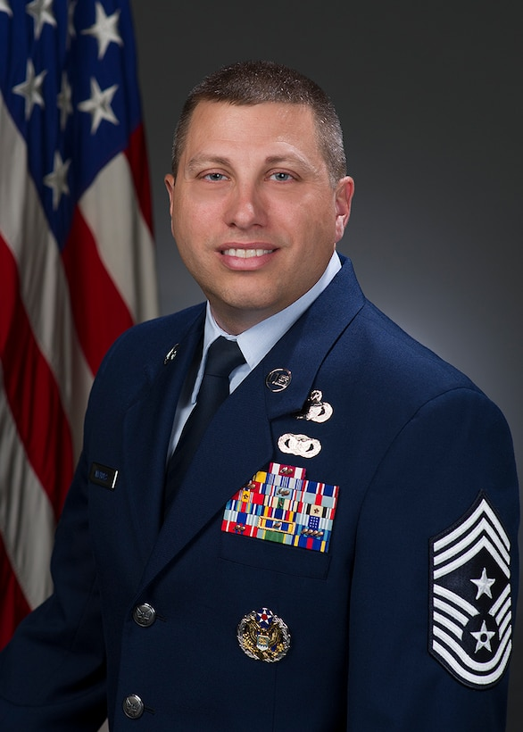 Chief Master Sgt. Steve Nichols, official photo, U.S. Air Force