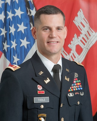 Maj. Justin R. Toole became the Deputy District Commander for the Nashville District, U.S. Army Corps of Engineers on Nov. 6, 2017. As the Deputy District Engineer, he assists in directing all the water resource activities of the U.S. Army Corps of Engineers throughout the Cumberland River Basin, and navigation and regulatory matters in the Tennessee River Basin, an area of more than 59,000 square miles, with 49 field offices touching seven states and a work force of over 700 federal employees. (USACE photo by Mark Abernathy)
