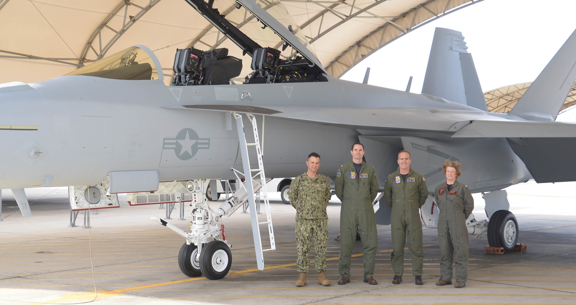 Defense Contract Management Agency Boeing St Louis recently delivered its 150th EA-18G Growler aircraft to Air Test and Evaluation Squadron Three One, known as VX-31, to Naval Air Weapons Station China Lake, Calif.