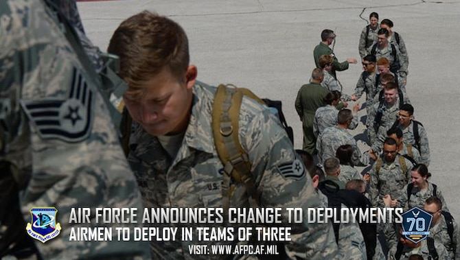 Air Force announces change to deployments