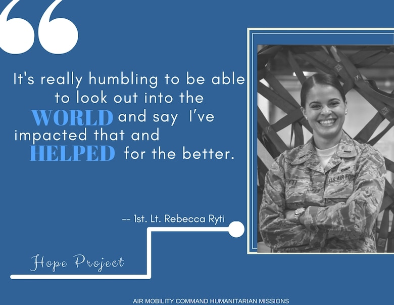 1st Lt. Rebecca Ryti is the 437th Aerial Port Squadron air freight flight commander. She Ryti managed almost 100 Airmen at Joint Base Charleston, S.C., in charge of receiving and palletizing equipment for three hurricane relief operations.