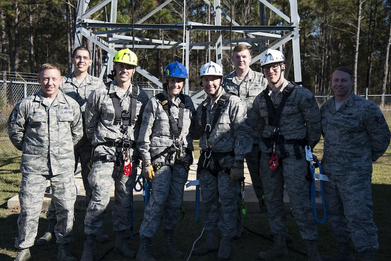 Team Moody Airmen and 23d Wing leadership pose for a photo, Dec. 11, 2017, at Moody Air Force Base, Ga. Moody leadership visited the radar, airfield and weather systems facility to familiarize themselves with the 23d Operations Support Squadron's duties and to gain a better understanding of how they impact the mission. (U.S. Air Force photo by Airman 1st Class Erick Requadt)