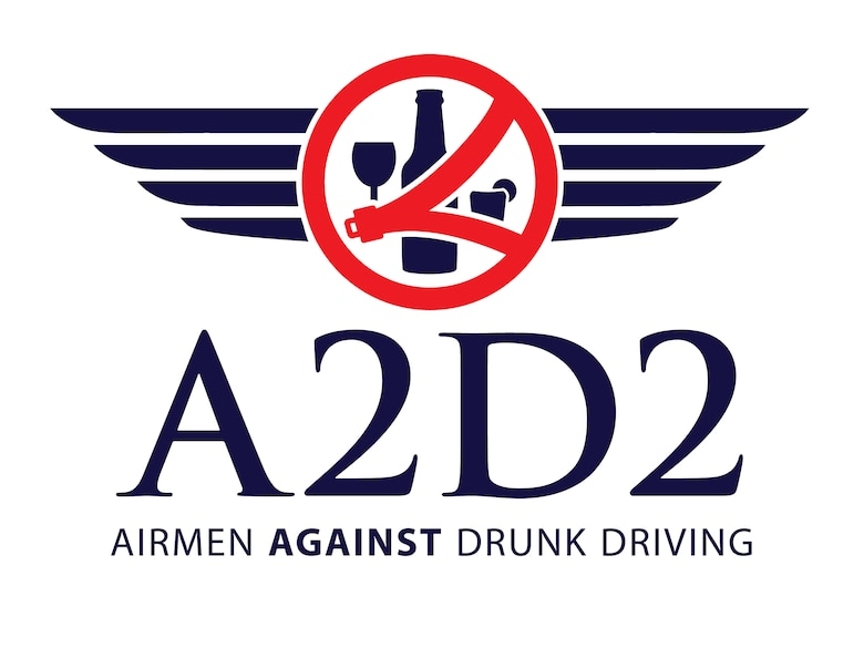 PETERSON AIR FORCE BASE, Colo. -- Airmen Against Drunk Driving Logo for Peterson Air Force Base, Colo. A2D2 is a volunteer organization designed to keep the Colorado Springs community safe and prevent DUIs by providing free rides home to anyone who lives or works on Peterson AFB, Schriever AFB or Cheyenne Mountain Air Force Station. (U.S. Air Force graphic by Airman 1st Class Dennis Hoffman)