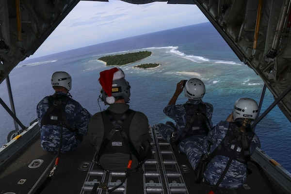 USAF, RAAF, JASDF complete first Operation Christmas Drop 2017 sortie