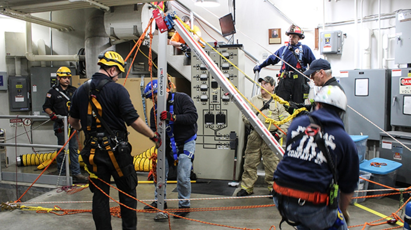 Corps staff and local partners participated in a joint, full-scale emergency response exercise at Jennings Randolph Lake, located between Garrett County, Maryland, and Mineral County, West Virginia, on Saturday, Oct. 28, 2017.