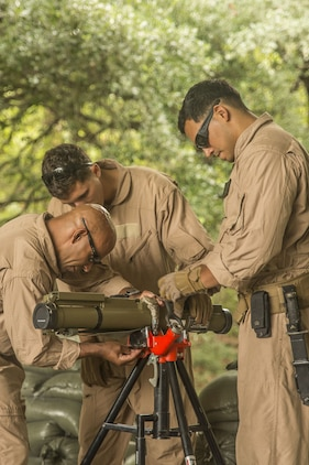 Explosive ordnance disposal Marines conduct inerting training aboard Marine Corps Air Station Beaufort, July 25. The technicians conduct training to develop their skills and keep them proficient. The Marines are with Marine Wing Support Detachment-31 and Headquarters and Headquarters Squadron EOD.