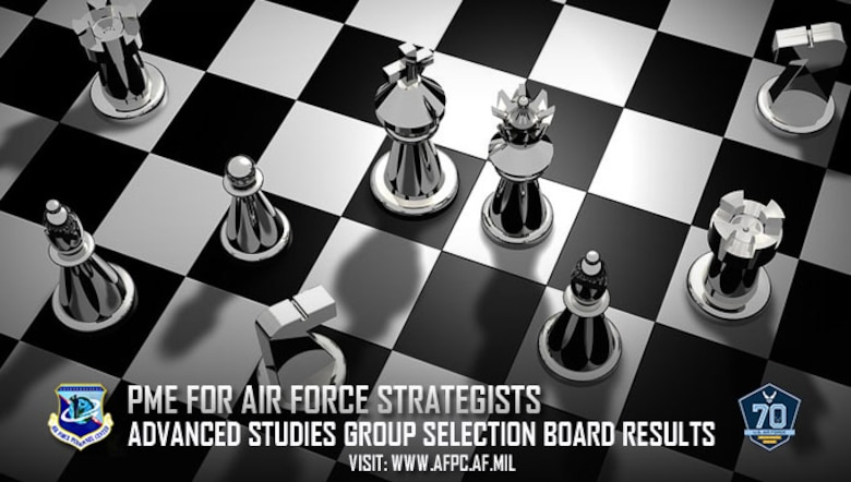 PME for Air Force strategists; advanced studies group selection board results