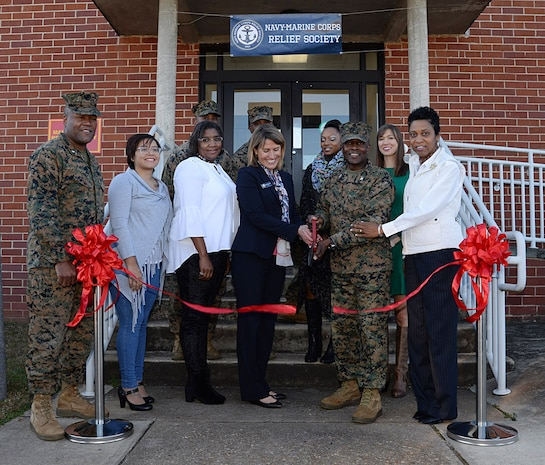Base officials re-open Navy-Marine Corps Relief Society office