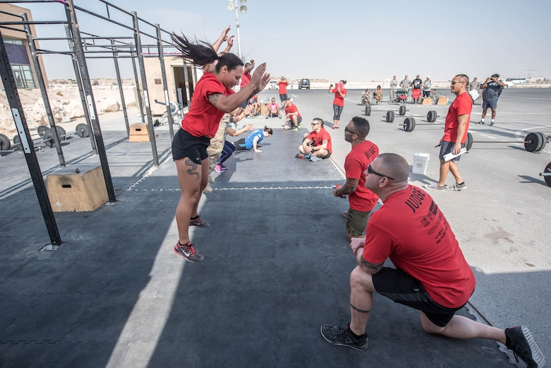 Crossfit Competition at Al Udeid Air Base motivates and boosts morale among deployed service members