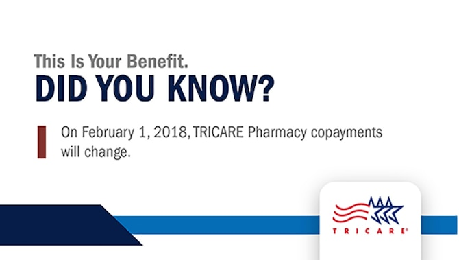 Take command: Increases to TRICARE pharmacy copayments coming Feb. 1, 2018