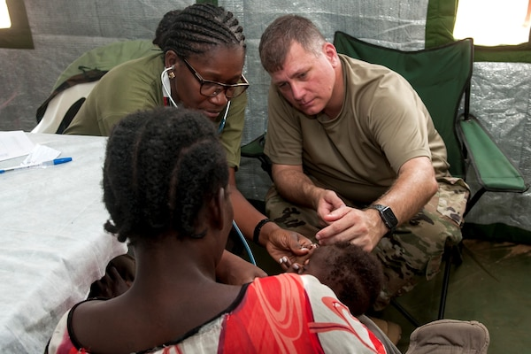 Ohio Guard in Angola for medical drill