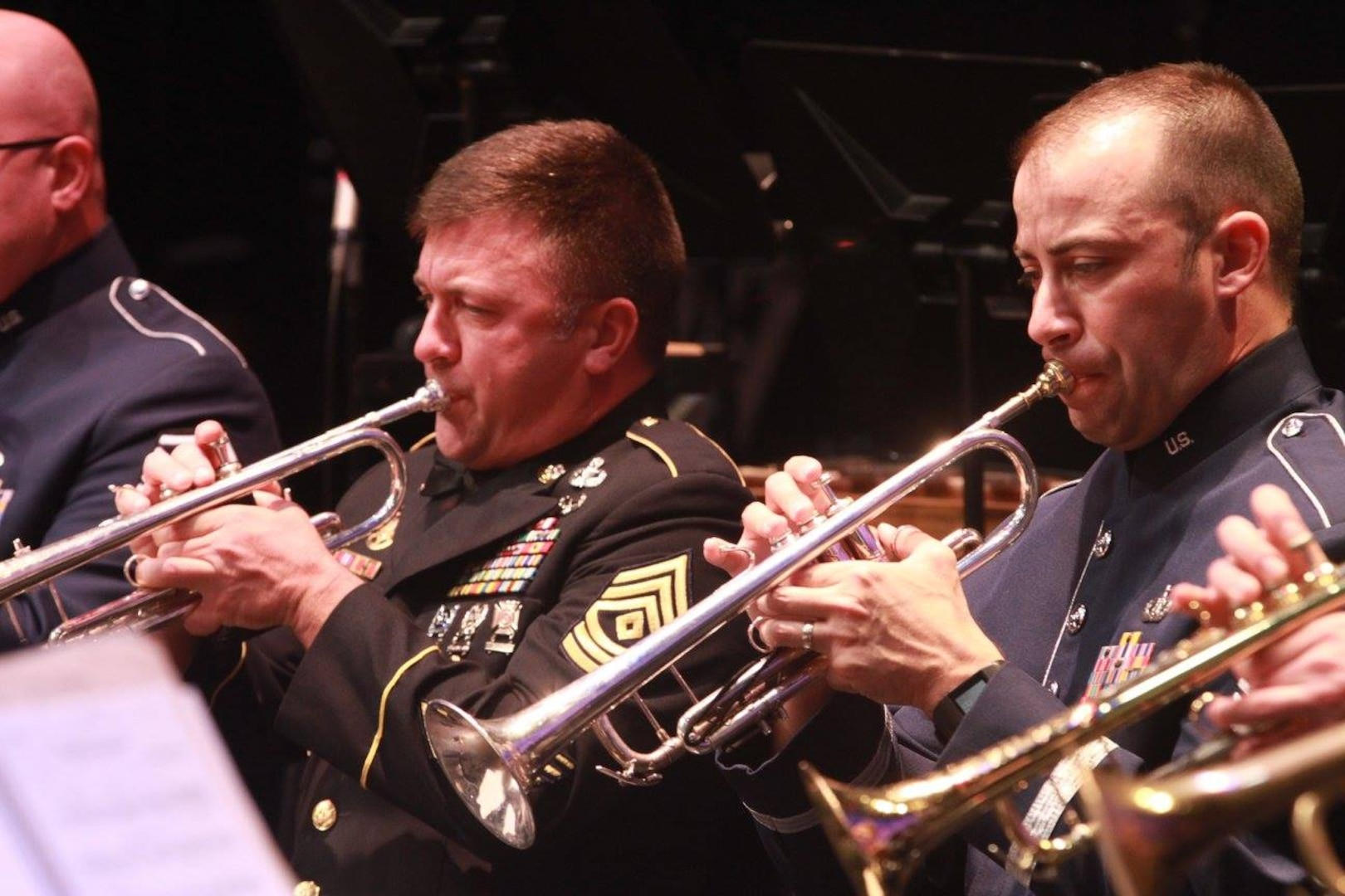 """Musicians from the U.S. Air Force Band of the West and the 323rd Army Band """"Fort Sam's Own"""" team up for a """"Holiday in Red, White and Blue"""" concert Dec. 9, 2017 at the Edgewood Performing Arts Center, 402 Lance St., in San Antonio. The annual performance is free and open to the public and is a holiday tradition."""