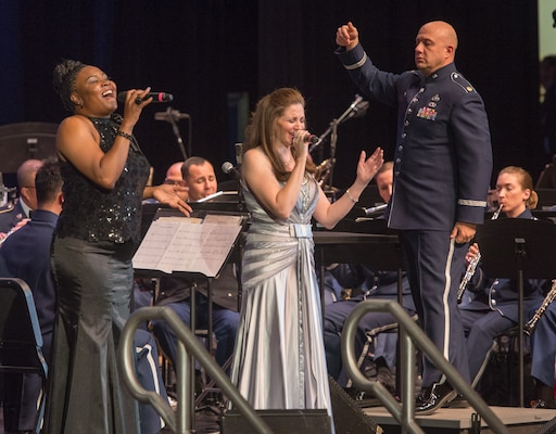 "The U.S. Air Force Band of the West and the 323rd Army Band ""Fort Sam's Own"" team up for a ""Holiday in Red, White and Blue"" concert Dec. 10, 2017 at the Edgewood Performing Arts Center, 402 Lance St., in San Antonio. The annual performance is free and open to the public and is a holiday tradition."