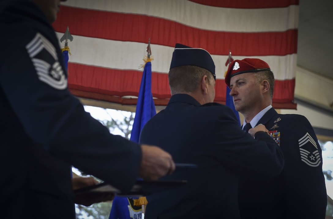 Chief Master Sgt. Michael West was awarded the Silver Star Medal Dec. 15, 2017, at Hurlburt Field, Fla.