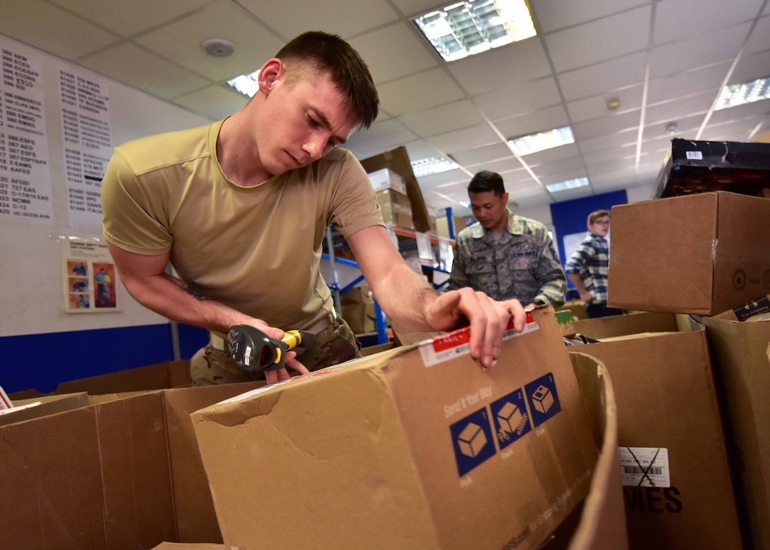 Approximately 30 Airmen from different career fields within the 386th AEW have volunteered to support the air base post office during the holiday season while deployed.