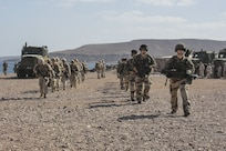 171214-M-QL632-090 DJIBOUTI, Djibouti (Dec. 14, 2017) – U.S. Marines and French military forces land in the vicinity of Arta Beach, Djibouti, in support of Alligator Dagger – a bilateral combat rehearsal. Alligator Dagger, led by Naval Amphibious Force, Task Force 51/5th Marine Expeditionary Expedition Brigade, is a dedicated, bilateral combat rehearsal that combines U.S. and French forces to practice, rehearse and exercise integrated capabilities available to U.S. Central Command both afloat and ashore. (U.S. Marine Corps photo by Staff Sgt. Vitaliy Rusavskiy/Released)