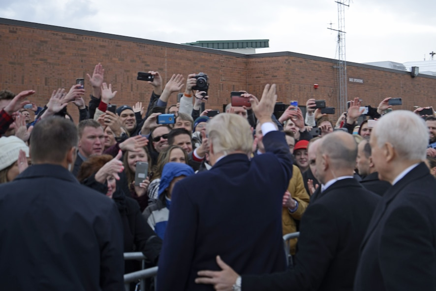 President Trump visits Roland R. Wright Air National Guard Base