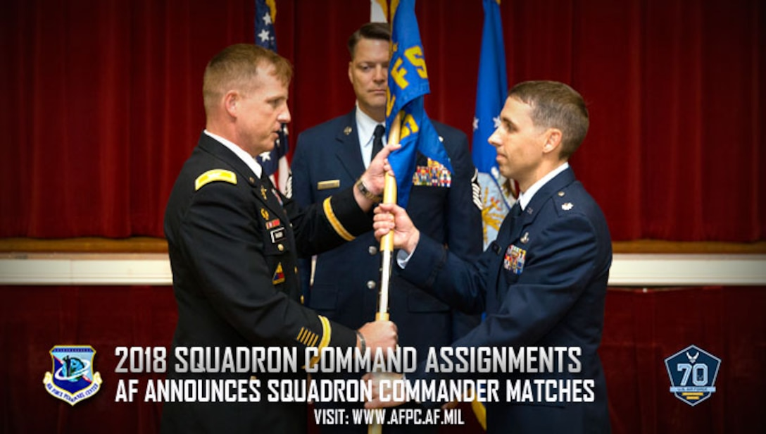 Squadron command selection list released for 2018