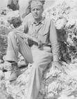 Capt. Mainard A. Sorensen on Okinawa during the late 1940's prior to his deployment to Korea.