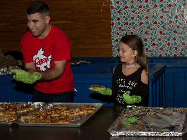 Marine Wing Support Squadron (MWSS) 171 hosted a Christmas party for a local orphanage at Marine Corps Air Station Iwakuni, Japan, Dec. 17, 2017.