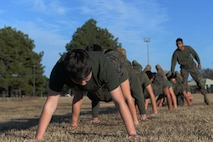 Marines do pushups.