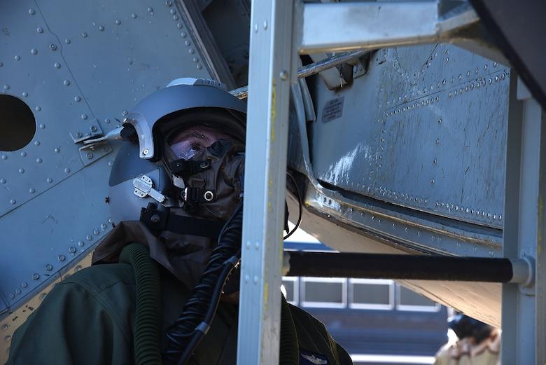 344th ARS aircrew dawns chemical gear