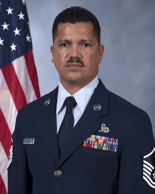 Master Sgt. Julian Cordova, a Resource Advisor assigned to the 6th Maintenance Squadron, pauses for an official photo at MacDill Air Force Base, Fla. Cordova helped save two lives in a boating accident in April of 2017. (U.S. Air Force photo by Senior Airman Mariette Adams)