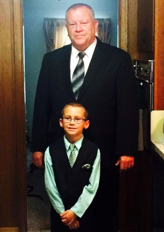 Ronald Hoelle with his grandson Austin. (Courtesy photo used with permission.)