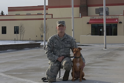 N.Y. Airman deploys dog from Puerto Rico