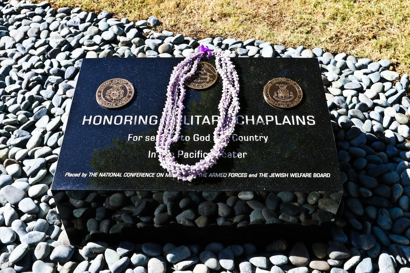 Chaplains from the Army, Air Force, Navy and Marines, past and present, were honored at the National Memorial Cemetery of the Pacific during the Chaplain Memorial Dedication in Honolulu, Dec. 14, 2017. Army photo by Staff Sgt. Melissa Parrish