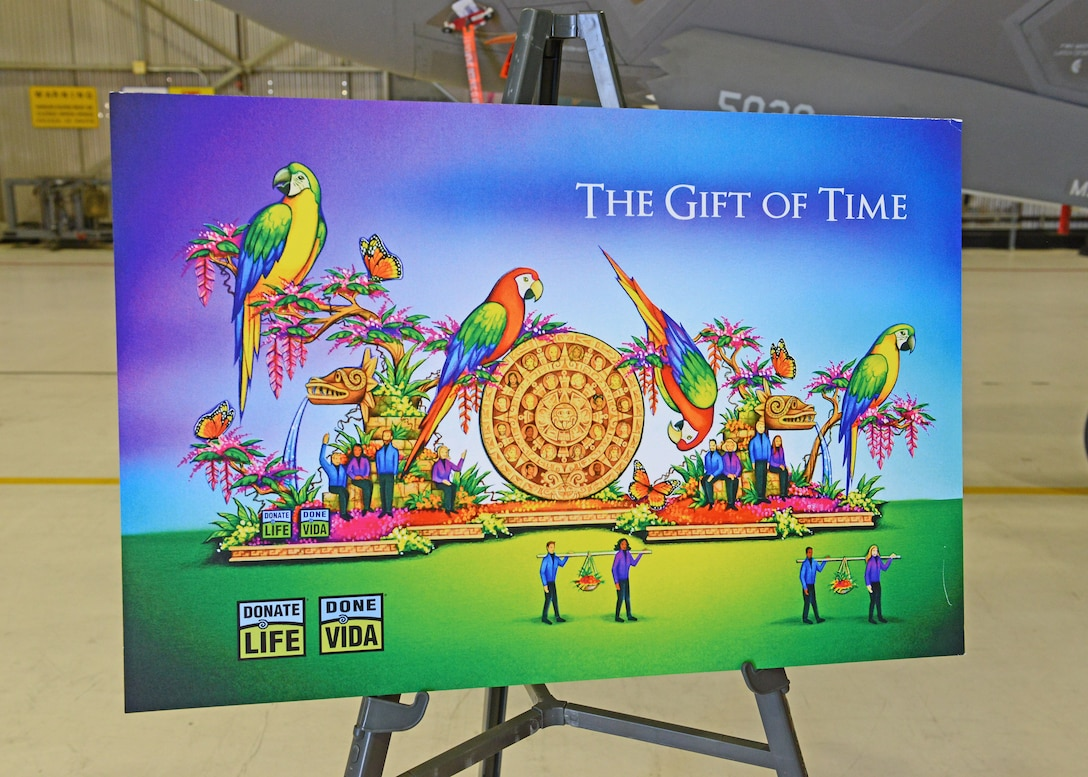 Tournament of Roses Parade float to honor Edwards pilot for giving gifts of life