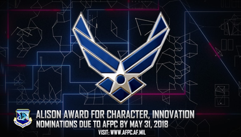 Nomination window open for 2018 USAF Alison Award for Character and Innovation