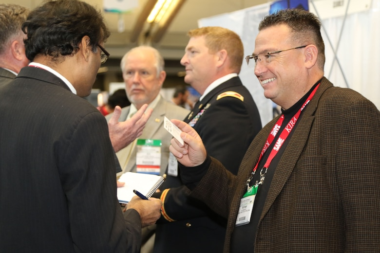 Attendees of the Society of American Military Engineers' Small Business Conference for the Architecture, Engineering, and Construction Industries met with Small Business Program Representative and Contracting officers from the U.S. Army Corps of Engineers among others in Pittsburgh, Pennsylvania, November 15-17.