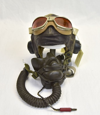 Plans call for this artifact to be displayed near the B-17F Memphis Belle™ as part of the new strategic bombardment exhibit in the WWII Gallery, which opens to the public on May 17, 2018. Goggles, oxygen mask, and helmet worn by B-17 pilot Capt William Rector on the USAAF's first major raid against Berlin, March 6, 1944.