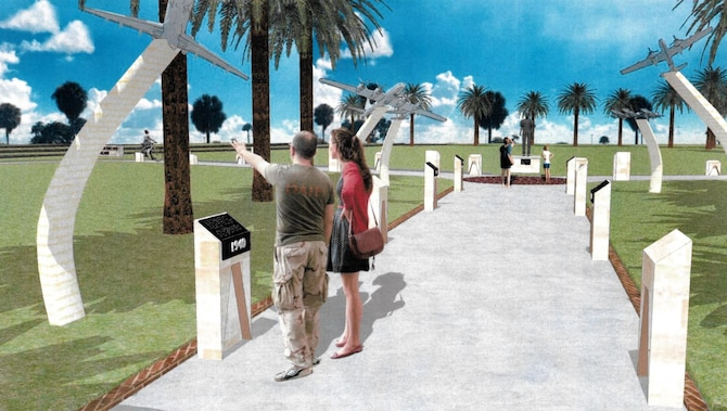 As the air park clears out, wing leadership is taking this opportunity to expand on the vision of the existing Memorial Park, building it into a comprehensive community park that will host a broader and more historically accurate heritage display while also focusing on low maintenance and cost sustainability. There are plans to replace the current static display aircraft with weatherproof displays of miniature models of the eight most impactful aircraft flown at MacDill.