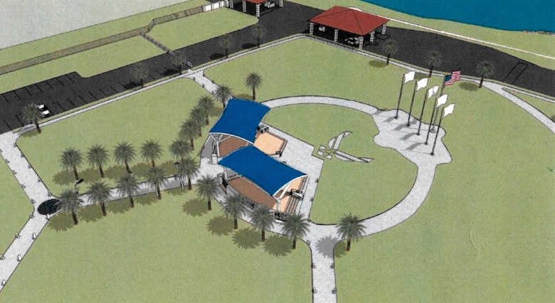 Construction on the new community park will be divided into three projected phases. Phase one will include the construction of new sidewalk trails and installation of miniature aircraft models and bollard plaques. Phases two and three will see the construction of the covered pavilion, along with the amphitheater.
