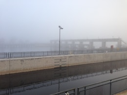 Foggy morning at W.P. Franklin Lock and Dam