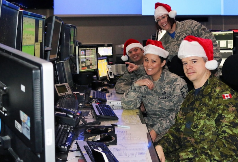 Eastern Air Defense Sector personnel conduct training in preparation for Santa tracking operations at their headquarters in Rome, N.Y.