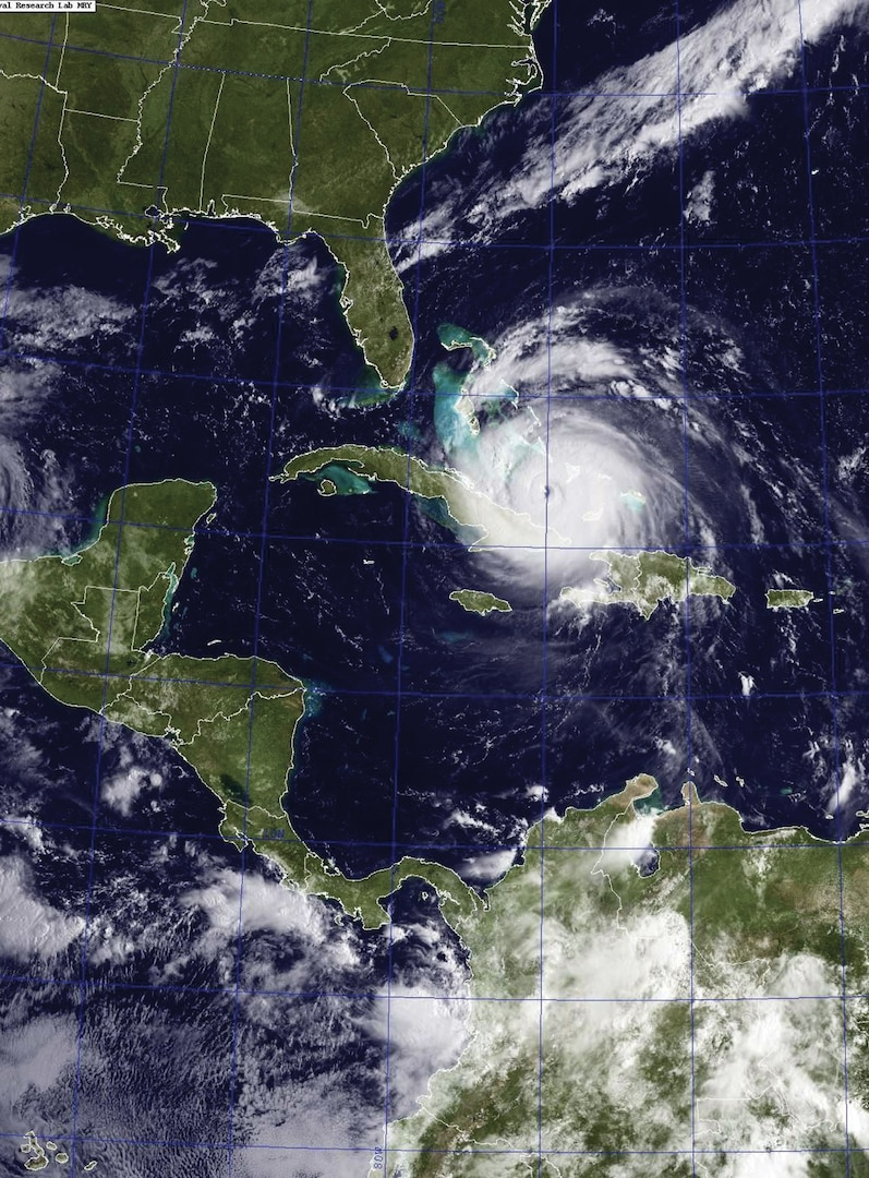 A satellite image from September 7, 2017 shows Hurricane