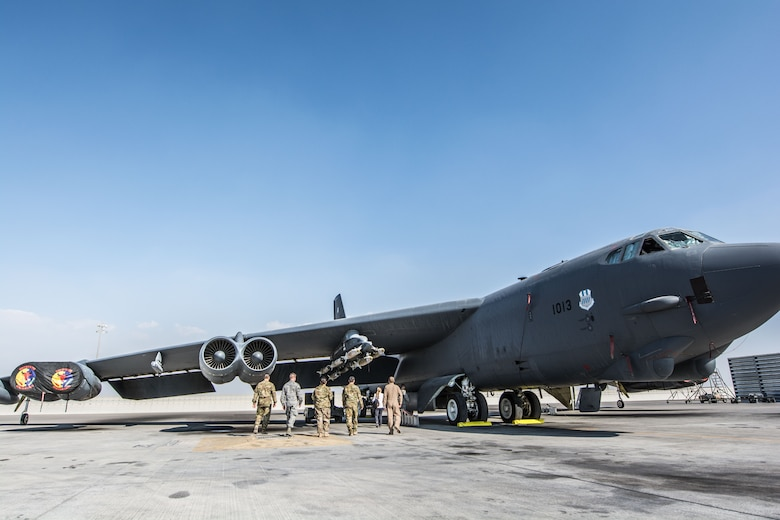 B-52 Stratofortress has conventional rotary launcher installed