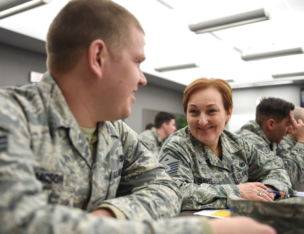 U.S. Air Force Airmen from the 133rd Airlift Wing participate in Wingman Day activities in St. Paul, Minn., Mar., 19, 2017.
