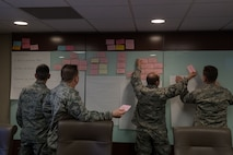 932nd MXG leadership develop strategic plan by identifying goals and objectives.