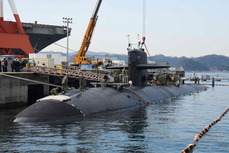 Bremerton Visits Yokosuka for Final Time