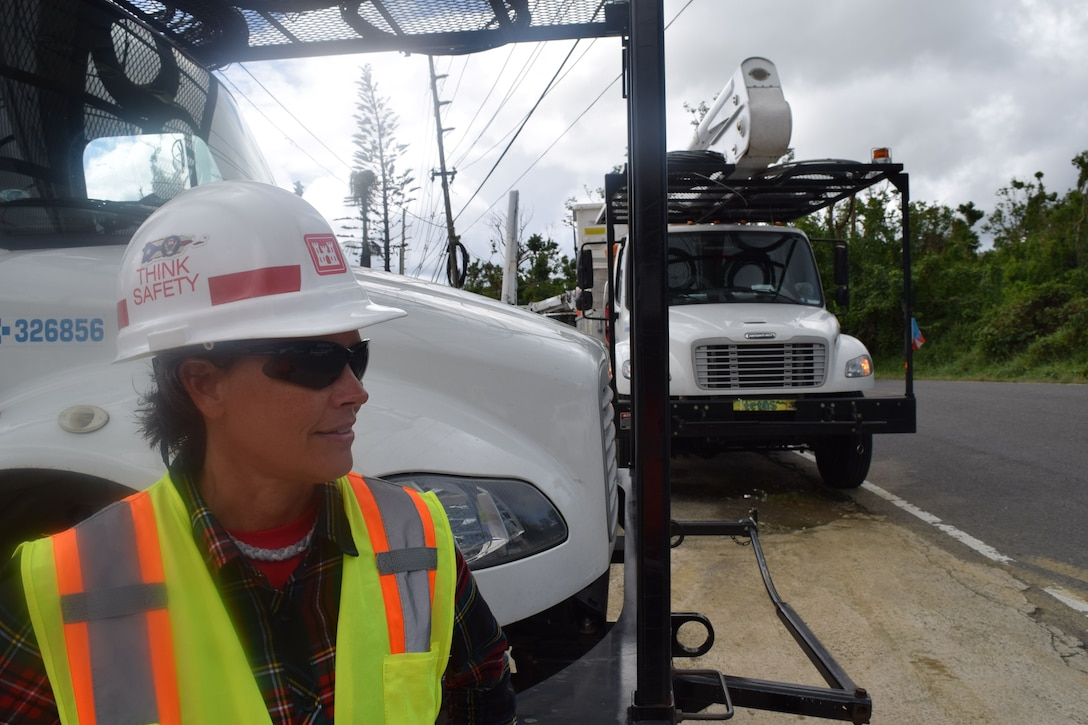 "Army Corps of Engineers Task Force Power Restoration continues their mission to restore power to residents of Puerto Rico throughout the holidays. Corps Quality Assurance Specialist Amy Tillery is responsible for maintaining safety throughout the work site and contract management. Tillery, a 21-year U.S. Army veteran, and a park ranger in St. Louis District, deployed to Puerto Rico three months ago. She also worked the Corps' Blue Roof mission in Punta Santiago and Aibonito. ""This has been the most rewarding experience of my life,"" said Tillery. ""Puerto Rico and its citizens have suffered unimaginable devastation and hardship and I'm so grateful to play a role in restoring the lives of my fellow Americans."""