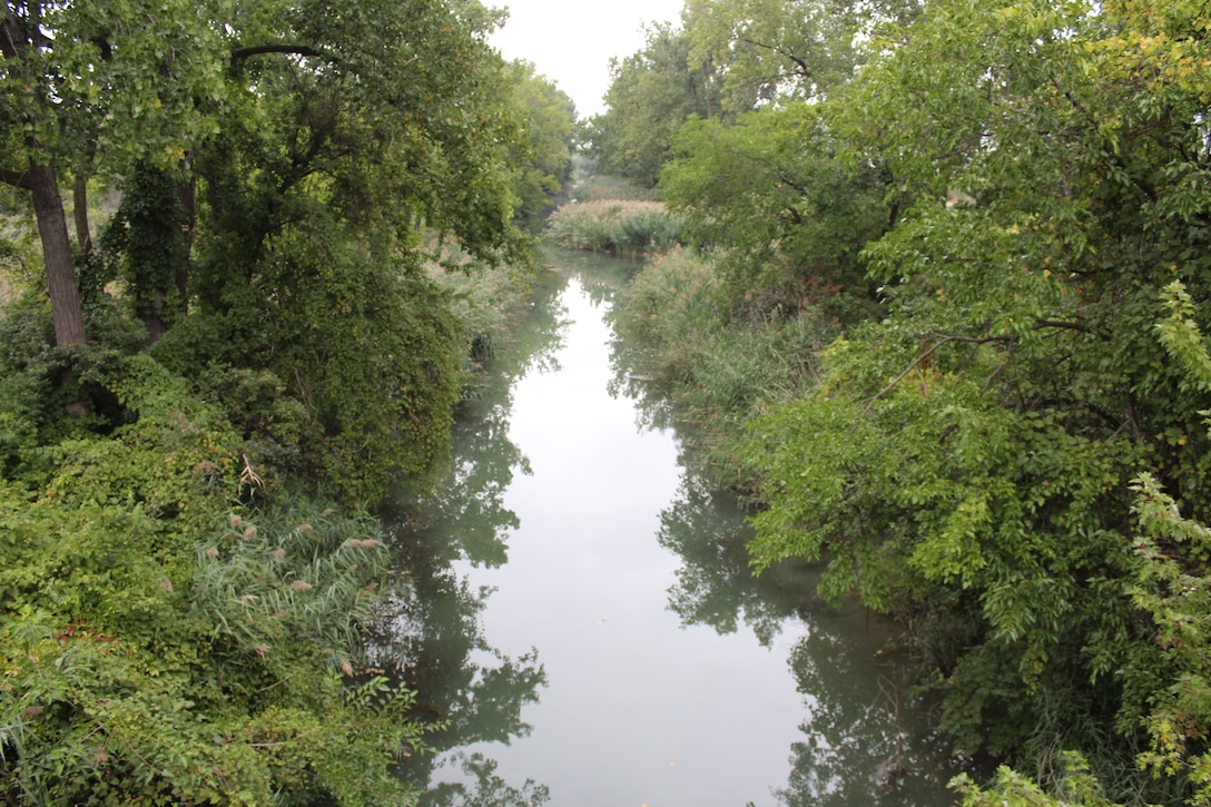 North view of Otter Creek from a car bridge on Sept. 14, 2016.