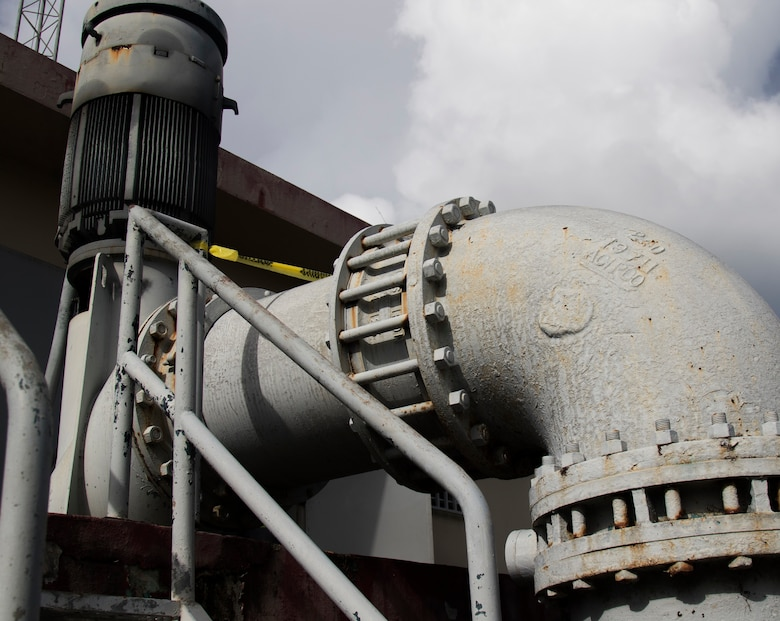 These flood control pumps near San Juan, Puerto Rico are just one of the sites U.S. Army Corps of Engineers teams are visiting as part of a unique mission to repair local generators and keep critical infrastructure functioning in the aftermath of Hurricane Maria.