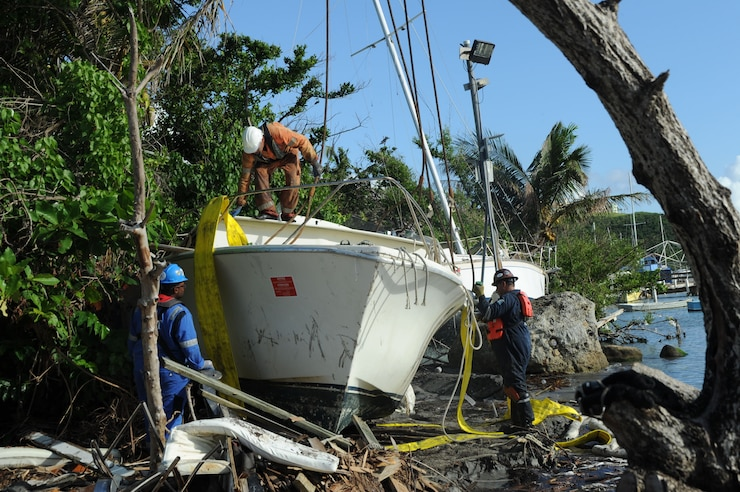 Image of vessel salvage in Puerto Rico.