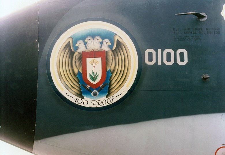 "Nose art is displayed on the first KC-135 Stratotanker received by the 100th Air Refueling Wing in 1992. Over the years, aircraft nose art has changed, and included the ""Let's Roll"" art after Sept. 11. (U.S. Air Force courtesy photo)"