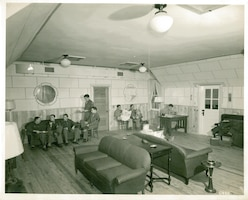Student pilots enjoy a break from training at the Vance Air Force Base Officer Lounge in 1942. (Courtesy Photo)
