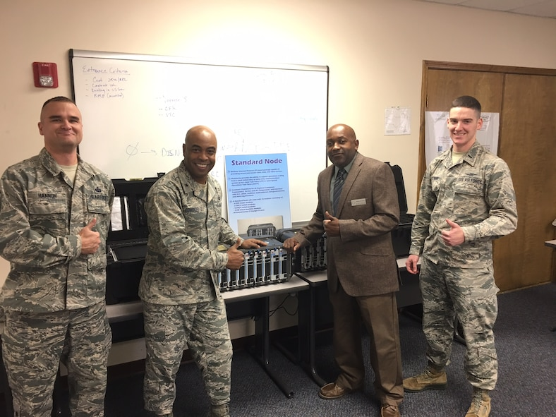 Brig. Gen. Trent Edwards, Air Force Space Command comptroller, visited the 5th Combat Communications Group (5CCG) at Robins AFB, Georgia on Jan. 26.
